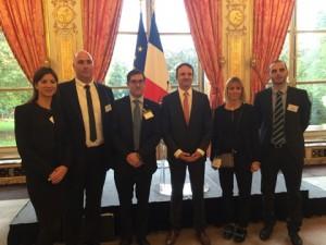 Réception de la JCE de Carcassonne à l'Assemblée Nationale par le Député Lambert